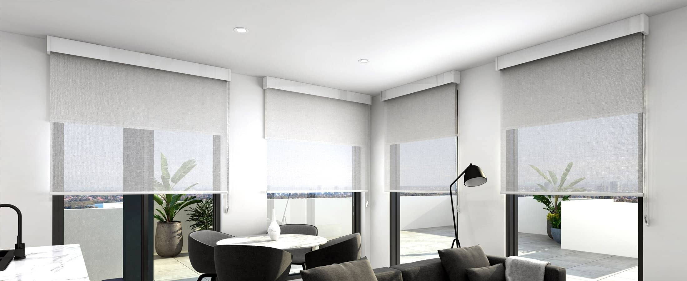 Double Roller Blinds Perth Amp Wa Dual Roller Blinds Abc