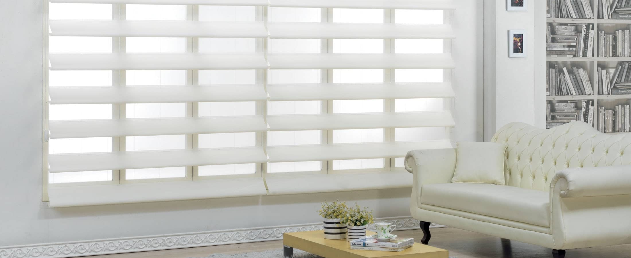 Ares Blinds in White Living Room