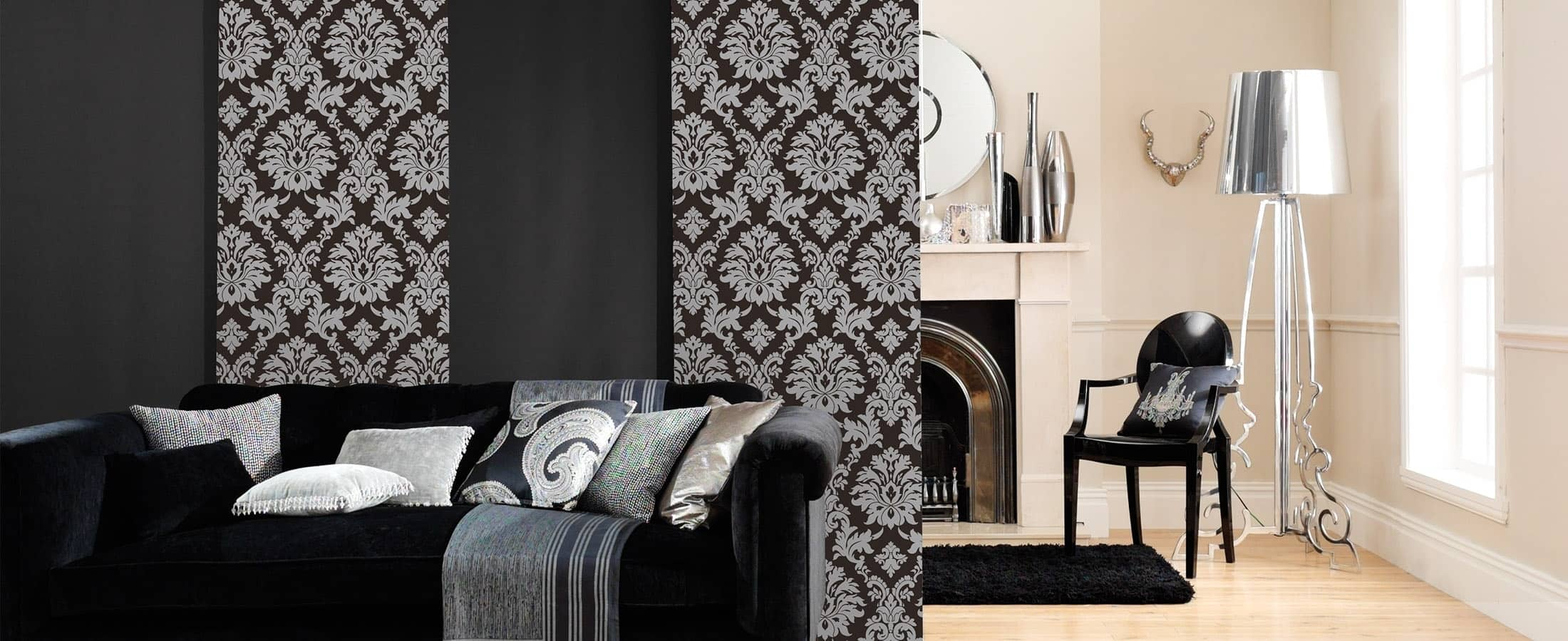 Elegant looking Black Panel Blinds