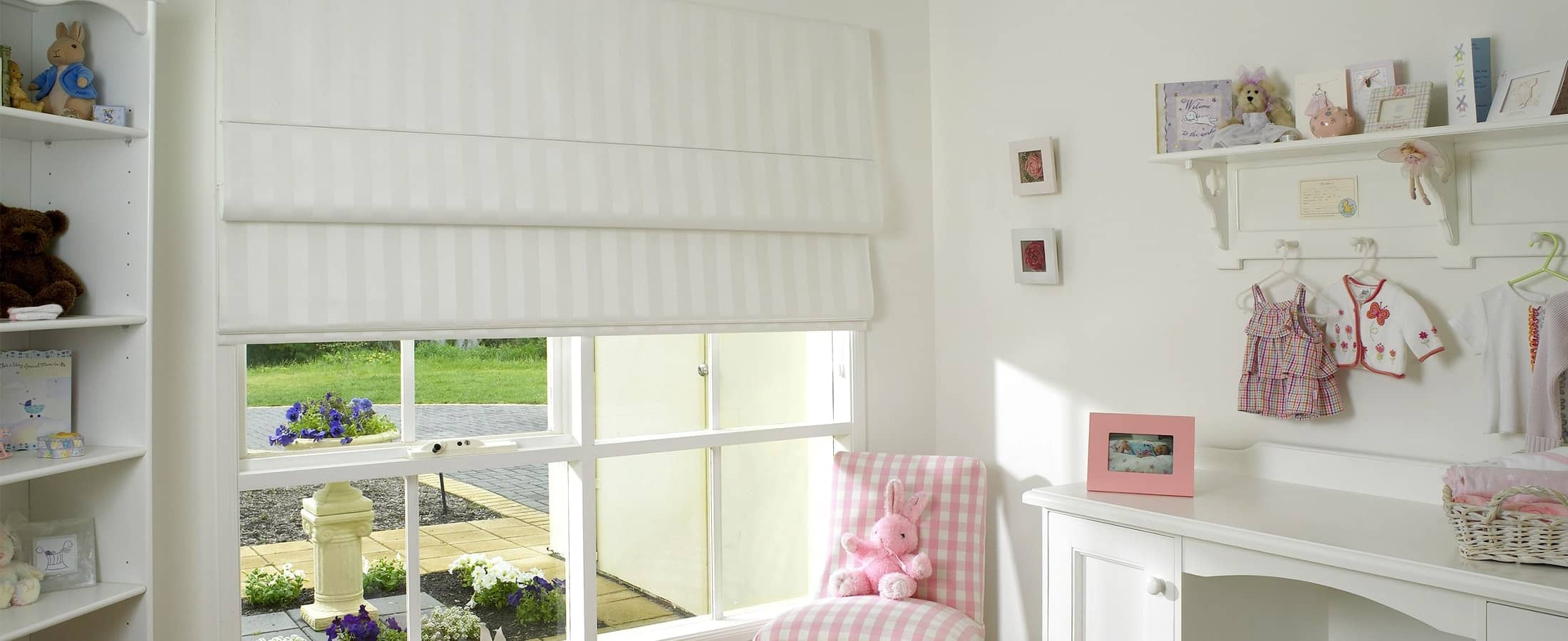 Striped Pattern Blockot Roman Blinds
