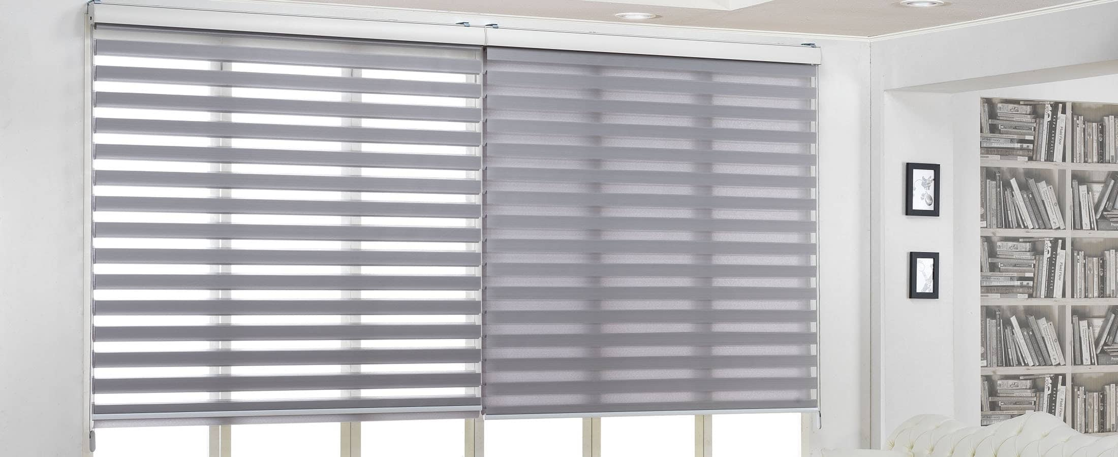 Tricoshade Blinds Half Closed