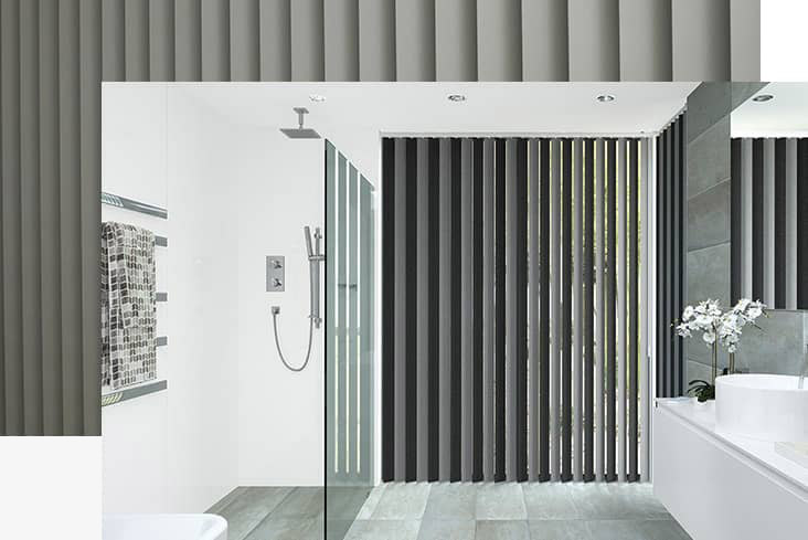 2 tone Bathroom Vertical Blind