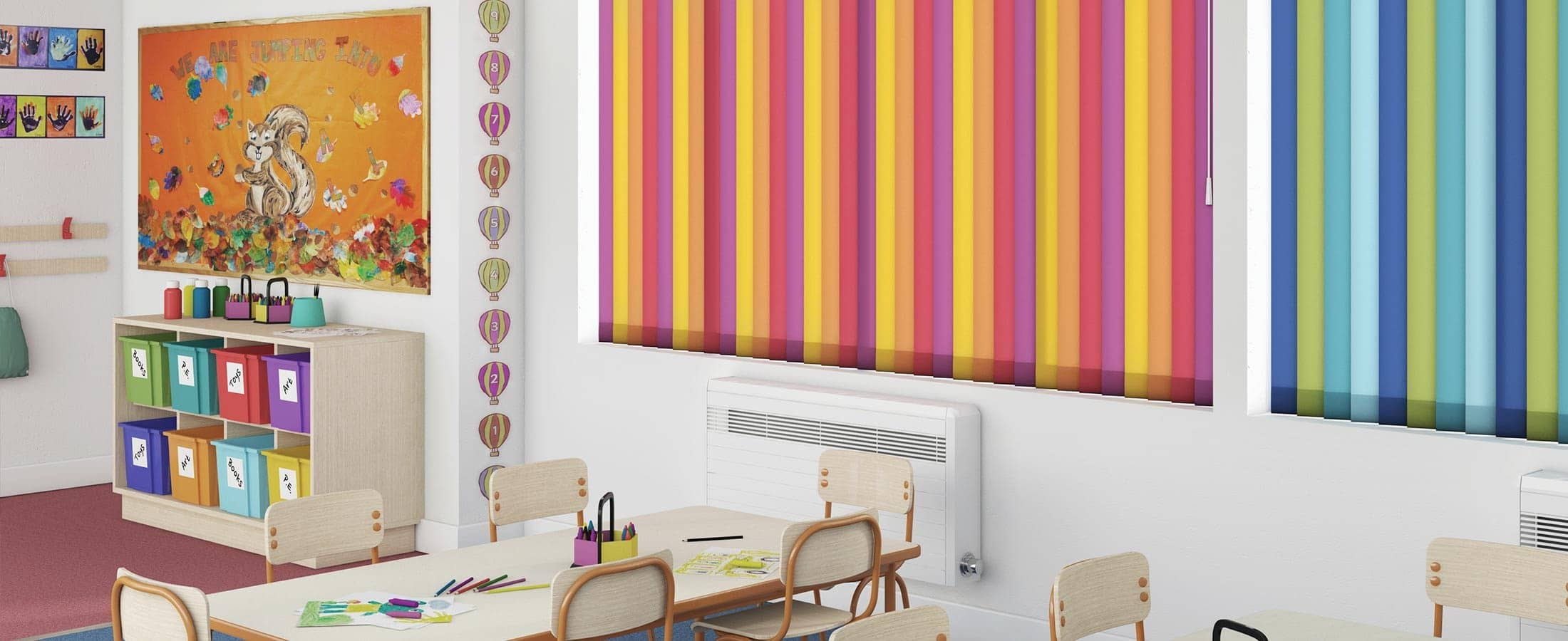 Ideas With White Vertical Blinds As Decorate Modern Yellow