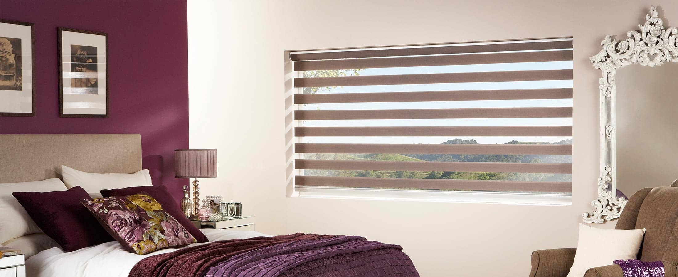 Vision Zebra Blinds fitted in the Bedroom